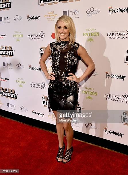 Singer/songwriter Carrie Underwood attends Muhammad Ali's Celebrity Fight Night XXII at the JW Marriott Phoenix Desert Ridge Resort Spa on April 8...