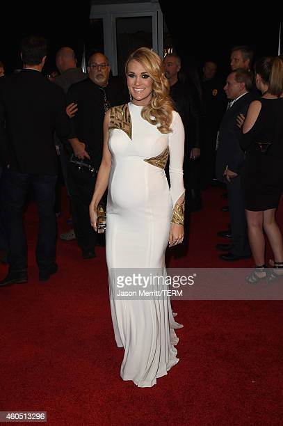 Singer/songwriter Carrie Underwood attends the 2014 American Country Countdown Awards at Music City Center on December 15 2014 in Nashville Tennessee