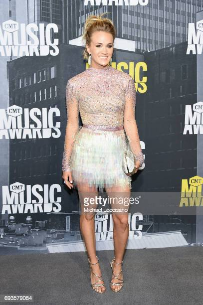Singersongwriter Carrie Underwood attends the 2017 CMT Music Awards at the Music City Center on June 7 2017 in Nashville Tennessee