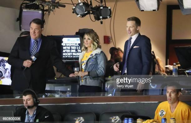 Singersongwriter Carrie Underwood attends the Stanley Cup Finals Game 4 Nashville Predators Vs Pittsburgh Penguins at Bridgestone Arena at...