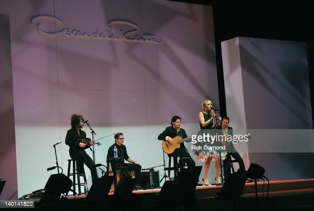 Singer/Songwriter Carrie Underwood performs during the Nordstrom Oscar De La Renta fashion show to benefit The Schermerhorn Symphony Center at the...