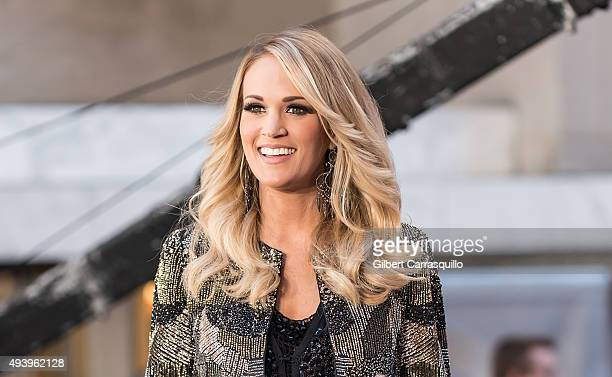Singersongwriter Carrie Underwood performs on NBC's Today at the Rockefeller Plaza on October 23 2015 in New York New York