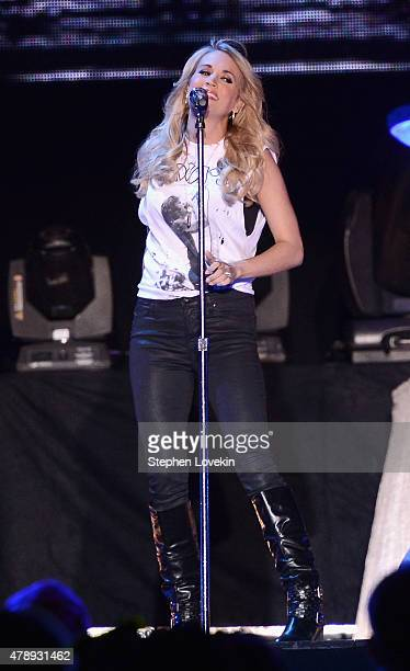 Singer/songwriter Carrie Underwood performs onstage during day 3 of the Big Barrel Country Music Festival on June 28 2015 in Dover Delaware