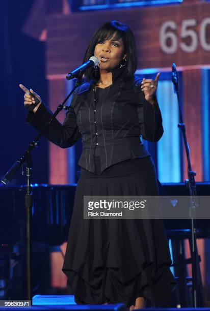 Singer/Songwriter CeCe Winans performs during the Music City Keep on Playin' benefit concert at the Ryman Auditorium on May 16, 2010 in Nashville,...