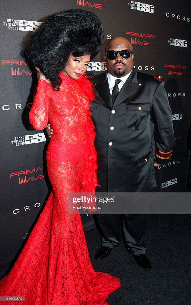 Singer/songwriter Cee Lo Green (R) and Shani James attending Primary Wave 9th Annual Pre-Grammy Prty at RivaBella on February 7, 2015 in West Hollywood, California.