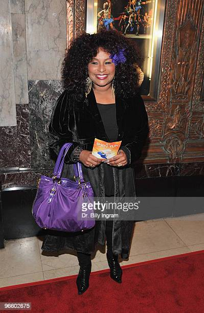 Singer/songwriter Chaka Khan arrives at The Color Purple Los Angeles opening night at the Pantages Theatre on February 11 2010 in Hollywood California