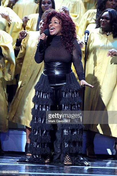 Singersongwriter Chaka Khan performs onstage during BET Celebration Of Gospel 2016 at Orpheum Theatre on January 9 2016 in Los Angeles California