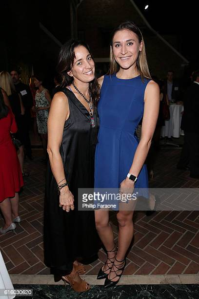Singer/songwriter Chantal Kreviazuk and Nadia Genevieve Masri attend the Los Angeles book launch party for Barry Avrich's Moguls Monsters And Madmen...