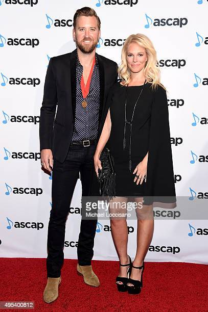 Singersongwriter Charles Kelley of Lady Antebellum and Cassie McConnell attend the 53rd annual ASCAP Country Music awards at the Omni Hotel on...