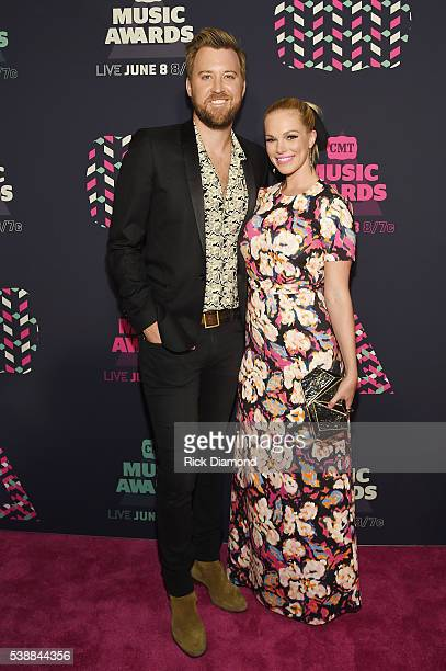 Singersongwriter Charles Kelley of Lady Antebellum and Cassie McConnell attend the 2016 CMT Music awards at the Bridgestone Arena on June 8 2016 in...