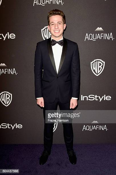Singer/songwriter Charlie Puth attends InStyle and Warner Bros 73rd Annual Golden Globe Awards PostParty at The Beverly Hilton Hotel on January 10...