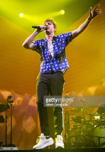 Singersongwriter Charlie Puth performs during the 2018 Honda Civic Tour presents Charlie Puth Voicenotes with special guest Hailee Steinfeld at BBT...