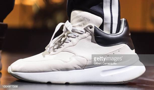 Singersongwriter Charlie Puth shoe detail performs during the 2018 Honda Civic Tour presents Charlie Puth Voicenotes with special guest Hailee...
