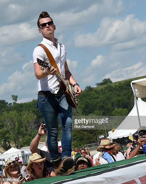 Singer/Songwriter Chase Bryant performs during day 3 of the 20th Anniversary of Kicker Country Stampede on June 27 2015 at Tuttle Creek State Park in...
