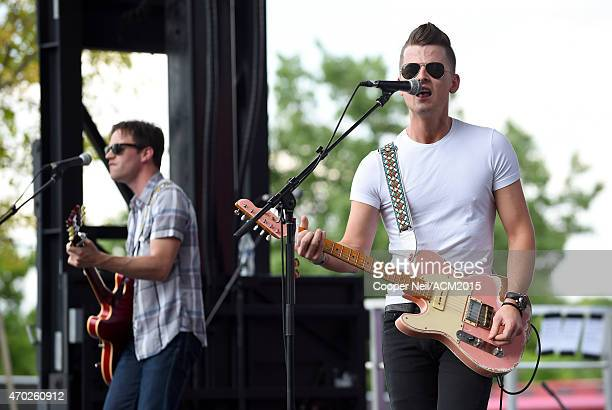Singersongwriter Chase Bryant performs onstage during the ACM Party For A Cause Festival at Globe Life Park in Arlington on April 18 2015 in...
