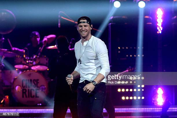 Singersongwriter Chase Rice performs onstage during Kenny Chesney's The Big Revival 2015 Tour kickoff for a 55 show run through August The highenergy...