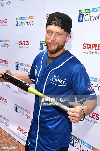 Singersongwriter Chris Lane attends the 26th Annual City of Hope Celebrity Softball Game at First Tennessee Park on June 7 2016 in Nashville Tennessee