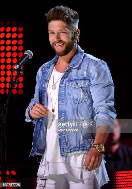 Singersongwriter Chris Lane performs onstage during the 2017 CMT Music Awards Rehearsals at Music City Convention Center on June 5 2017 in Nashville...