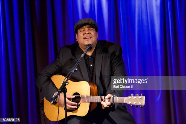 Singer/Songwriter Chris Pierce performs at The Grammy Museum's Educational Initiative Backstage Pass Acoustic Performance And QA at The GRAMMY Museum...