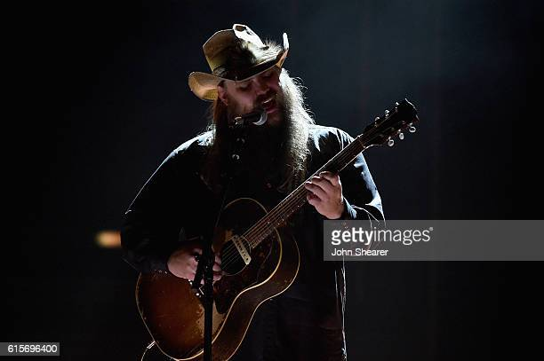 Singersongwriter Chris Stapleton performs on stage during CMT Artists of the Year 2016 on October 19 2016 in Nashville Tennessee