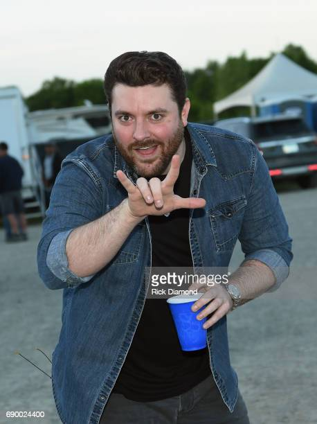 Singer/Songwriter Chris Young backstage at Tree Town Music Festival Day 4 on May 28 2017 in Heritage Park Forest City Iowa