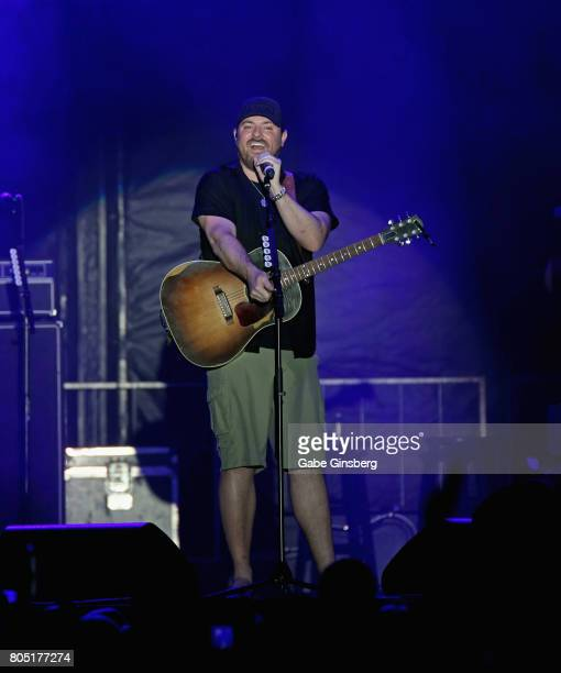 Singer/songwriter Chris Young performs at the Red Rock Resort on June 30 2017 in Las Vegas Nevada