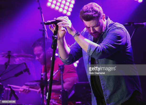 Singer/Songwriter Chris Young performs at Tree Town Music Festival Day 4 on May 28 2017 in Heritage Park Forest City Iowa