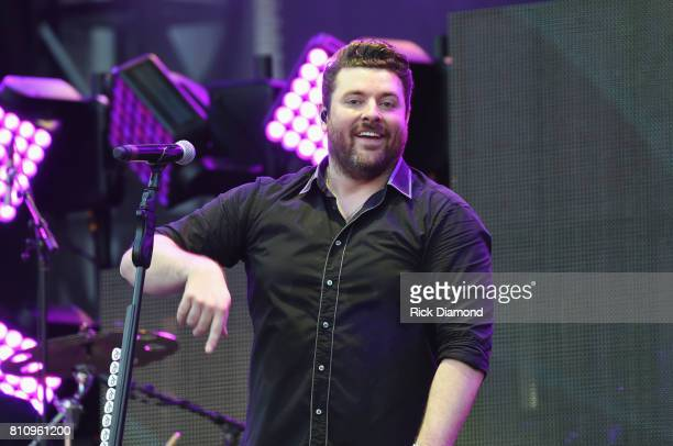 Singer/Songwriter Chris Young performs during Happy Valley Jam 2017 in Beaver Stadium on the campus of Penn State University July 8 2017 in State...