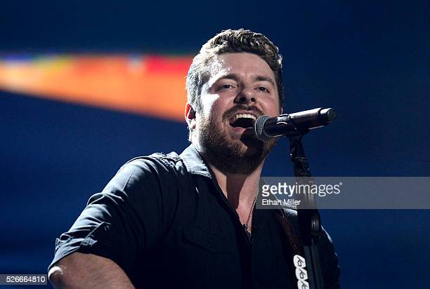 Singer/songwriter Chris Young performs onstage during the 2016 iHeartCountry Festival at The Frank Erwin Center on April 30 2016 in Austin Texas