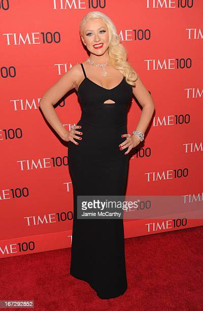 Singersongwriter Christina Aguilera attends the 2013 Time 100 Gala at Frederick P Rose Hall Jazz at Lincoln Center on April 23 2013 in New York City