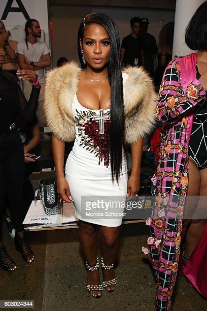 Singersongwriter Christina Milian attends The Blonds fashion show during MADE Fashion Week September 2016 at Milk Studios on September 11 2016 in New...