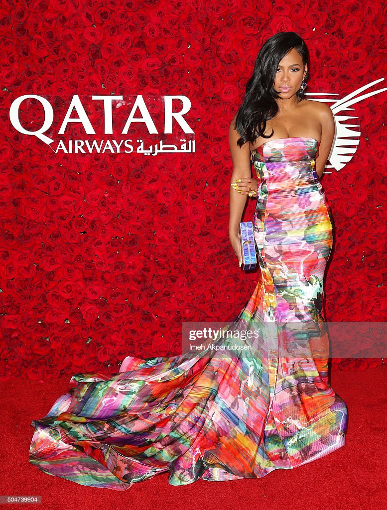 Singer/songwriter Christina Milian attends the Qatar Airways Los Angeles Gala at Dolby Theatre on January 12, 2016 in Hollywood, California.