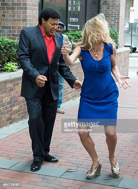 Singersongwriter Chubby Checker dances to The Twist with Fox 29 anchor Karen Hepp during Fox 29's 'Good Day' Philadelphia morning show at FOX 29...