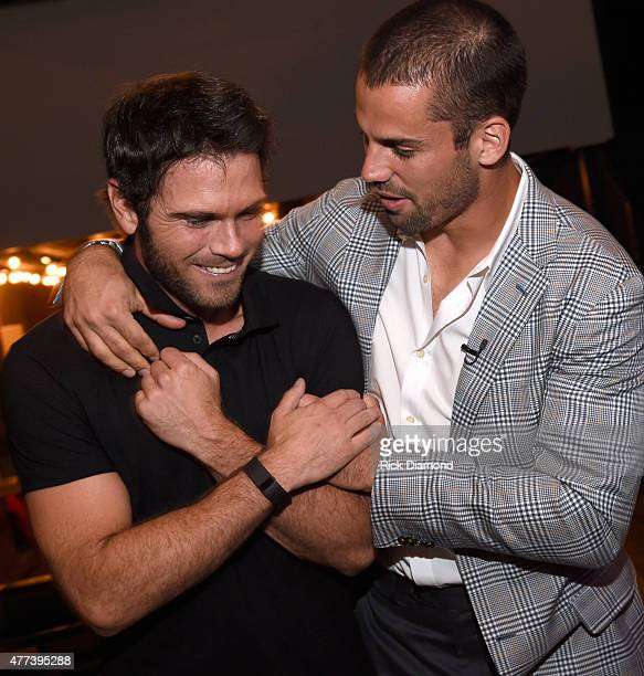 Singer/Songwriter Chuck Wicks and Eric Decker attend On Deck With The Deckers Hosted By The Eric And Jessie Decker Foundation The Eric And Jessie...