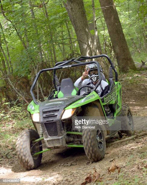 Singer/Songwriter Chuck Wicks participates in the Celebrity OffRoad Trail Ride during the 8th annual Dickson County Craig Morgan Foundation Benefit...