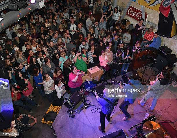 Singer/Songwriter Chuck Wicks performs at his Turning Point Album Release party at the Tin Roof on February 26 2016 in Nashville Tennessee