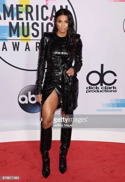 Singer/songwriter Ciara attends the 2017 American Music Awards at Microsoft Theater on November 19 2017 in Los Angeles California