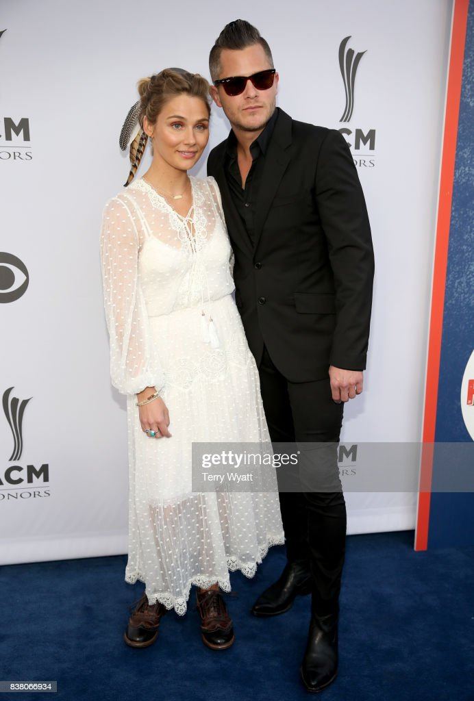 Singer-songwriter Clare Bowen (L) and Brandon Robert Young (R) attend the 11th Annual ACM Honors at the Ryman Auditorium on August 23, 2017 in Nashville, Tennessee.