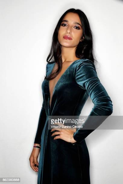 Singersongwriter Claudia Lagona aka Levante poses for a portrait during amfAR Gala Milano on September 21 2017 in Milan Italy