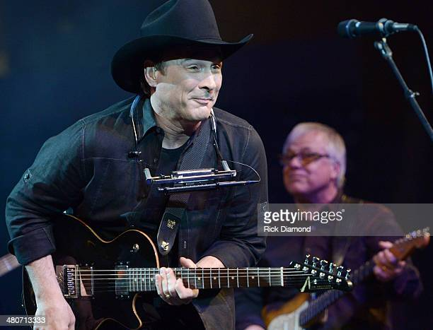 Singer/Songwriter Clint Black performs during Lipscomb University's Copperweld Charlie Daniels' Scholarship for Heroes event at Allen Arena Lipscomb...