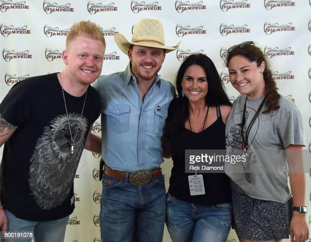 HISH Singer/Songwriter Cody Johnson Josie Dee of Josie on the Strip and Lauren Cunningham Artist relations Country Stampede and his wife Brandi...