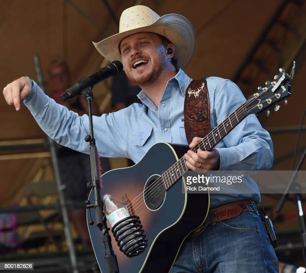 Singer/Songwriter Cody Johnson performs during Kicker Country Stampede Day 2 at Tuttle Creek State Park on June 23 2017 in Manhattan Kansas