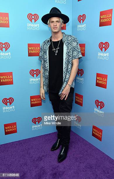 Singersongwriter Cody Simpson poses backstage during the first ever iHeart80s Party at The Forum on February 20 2016 in Inglewood California