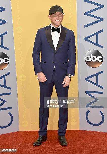 Singersongwriter Cole Swindell attends the 50th annual CMA Awards at the Bridgestone Arena on November 2 2016 in Nashville Tennessee