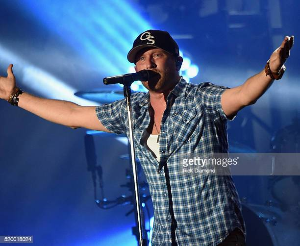 Singer/Songwriter Cole Swindell performs at County Thunder Music Festivals Arizona Day 2 on April 8 2016 in Florence Arizona