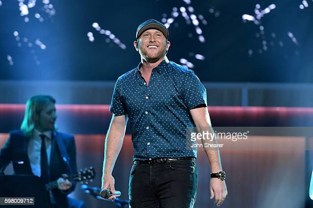 Singersongwriter Cole Swindell performs onstage during the 10th Annual ACM Honors at the Ryman Auditorium on August 30 2016 in Nashville Tennessee