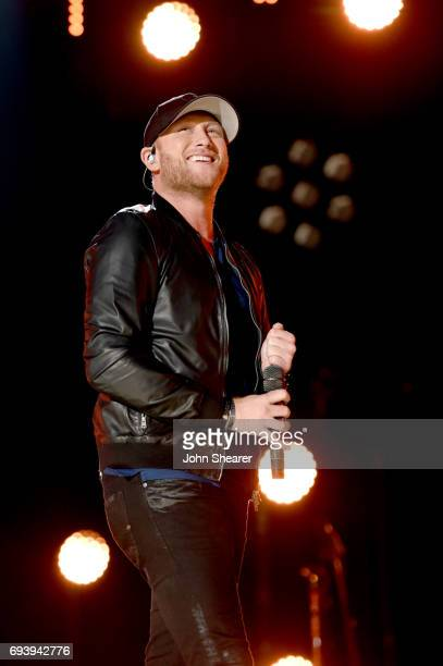 Singersongwriter Cole Swindell performs onstage for day 1 of the 2017 CMA Music Festival on June 8 2017 in Nashville Tennessee