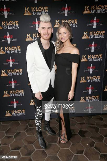Singersongwriter Colton Dixon and Annie Dixon arrive at the 5th Annual KLOVE Fan Awards at The Grand Ole Opry on May 28 2017 in Nashville Tennessee