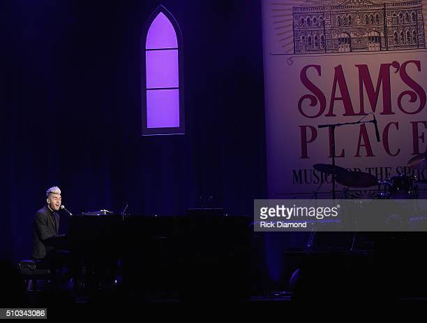 Singer/Songwriter Colton Dixon performs at Sam's Place Music For The Spirit at Ryman Auditorium on February 14 2016 in Nashville Tennessee