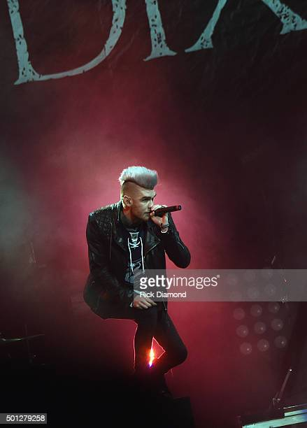Singer/Songwriter Colton Dixon performs during Toby Mac's This Is Not A Test Tour at Bridgestone Arena on December 13 2015 in Nashville Tennessee